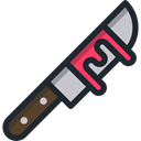 weapon, Cutting, halloween, Knife, Cut, food, Restaurant, Cutlery, Tools And Utensils, Food And Restaurant Black icon