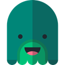halloween, horror, Terror, spooky, scary, fear, Swamp Monster Teal icon