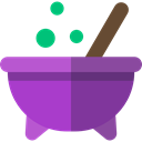 halloween, pot, Cauldron, food, Cook DarkOrchid icon