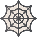 Spider Web, web, interface, halloween, cobweb AntiqueWhite icon