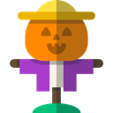 scarecrow, Farming And Gardening, Character, halloween, rural, Farming Black icon