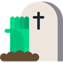 tomb, tombstone, zombie, Stone, Cemetery, Rip, death, halloween AntiqueWhite icon