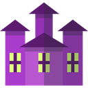 halloween, Fun, spooky, haunted house, Amusement Park DarkOrchid icon