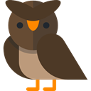 owl, Animals, bird, hunter DarkOliveGreen icon