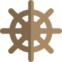 Boat, transport, ship, helm, navigation, sailing DimGray icon