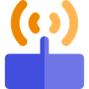 internet, Connection, Modem, wireless, wi-fi, technology, electronics, networking MediumSlateBlue icon