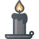 halloween, light, Dark, Candle Black icon