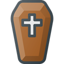death, halloween, coffin Sienna icon