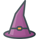 hat, witch Black icon