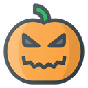 halloween, pumpkin, lamp Icon