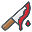 horror, kill, Knife, Bloody Black icon
