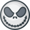 Cartoon, skellington, Haloween, movie, jack DarkSlateGray icon