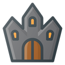 Ghost, Castle, halloween, spooky DimGray icon