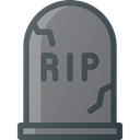 grave, Rip, death, Stone, Cemetery Gray icon