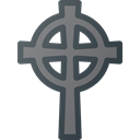 death, Stone, Cemetery, cross, grave, Celtic Black icon