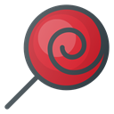 Candy, Lollipop Black icon