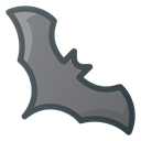 halloween, vampire, bat Black icon
