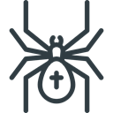 spider, halloween DarkSlateGray icon