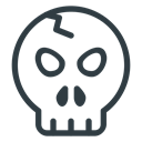skull, halloween Black icon