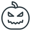 halloween, pumpkin, lamp Black icon