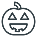 halloween, pumpkin, lamp DarkSlateGray icon