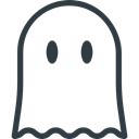 Ghost, halloween Black icon