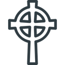 cross, halloween, Celtic Black icon