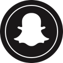 Snapchat, media, Logo, Social Black icon