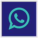 media, Logo, Social, Whatsapp MidnightBlue icon