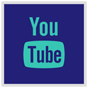 youtube, media, Logo, Social MidnightBlue icon