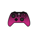 pink, controller, Shadow, gamer, xbox one Black icon