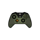 green, controller, halo, gamer, xbox one, master chief Black icon