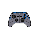 gamer, xbox one, Blue, Gear, controller Black icon
