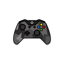 gamer, xbox one, grey, controller, Force Black icon