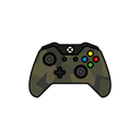 green, controller, Force, gamer, xbox one Black icon