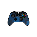 gamer, xbox one, Blue, controller, Force Black icon