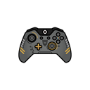 Cod, controller, Aw, gamer, xbox one Black icon