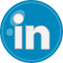 media, Linkedin, Social DarkCyan icon