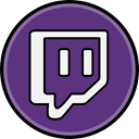 Twitch, media, Social DarkSlateBlue icon