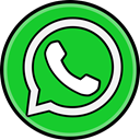 media, Social, Whatsapp LimeGreen icon
