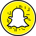 Social, Snapchat, media Yellow icon