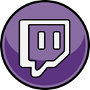 media, Social, Twitch LightSlateGray icon
