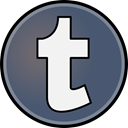 media, Social, Tumblr DimGray icon