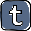 media, network, web, social media, Social, Tumblr, Communication DimGray icon