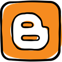 media, network, web, social media, blogger, Social, Communication DarkOrange icon