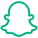 Chat, photo, App, Ghost, snapchat icon Black icon