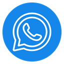 Message, phone, Chat, Social, Communication, whatsapp icon DodgerBlue icon