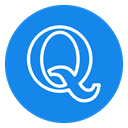 red, question, modern, Quora, social icon DodgerBlue icon