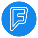 Foursquare icon DodgerBlue icon