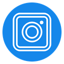 media, network, new, Logo, Social, Instagram, square icon DodgerBlue icon